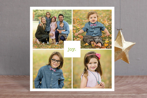 Just Joy Christmas Photo Cards