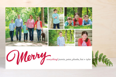 Merry Mosaic Christmas Photo Cards