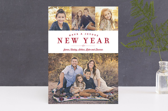 """Sparkling Border"" - Elegant, Photo Collage Christmas Photo Cards in Shiraz by Carrie ONeal."