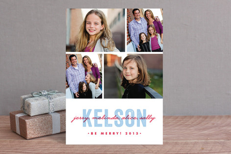 Merry Moniker Christmas Photo Cards