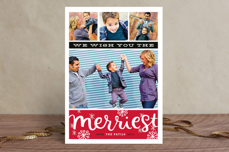 Merriest Snowbursts Christmas Photo Cards