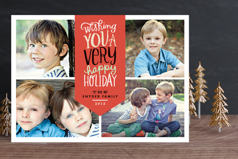 Very Merry Script Christmas Photo Cards