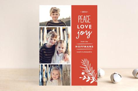 Peace + Love + Joy Christmas Photo Cards