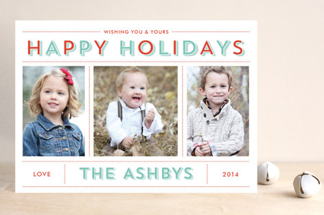 Bold & Bright Holiday Christmas Photo Cards