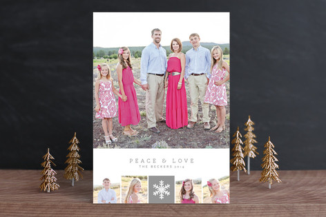 Holiday Squares Christmas Photo Cards