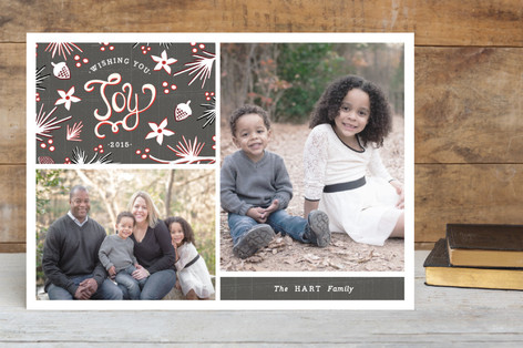 Winter Branch Collage Christmas Photo Cards