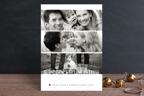 Clean Merry Wishes Christmas Photo Cards