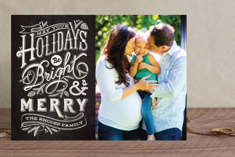 Bright and Chalky Christmas Photo Cards