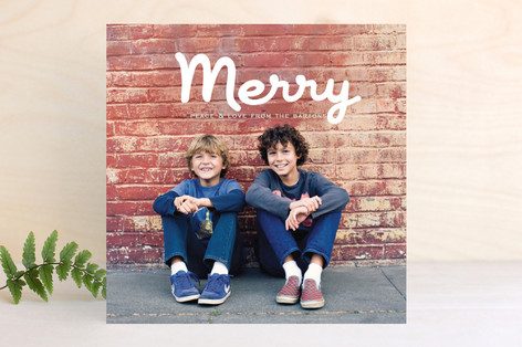Merry Brush Christmas Photo Cards