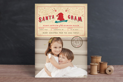 Santa Gram Christmas Photo Cards