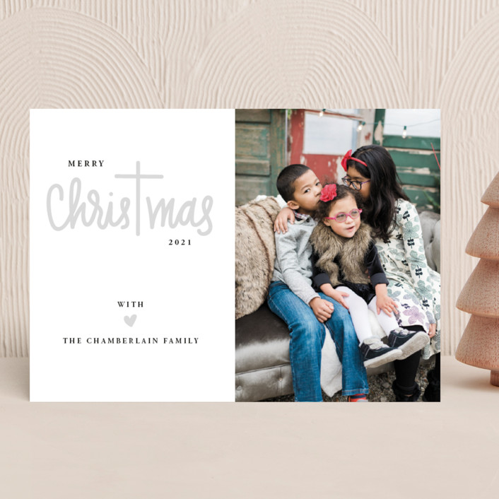"""Christ in Christmas"" - Christmas Photo Cards in Rudolph's Nose by Up Up Creative."