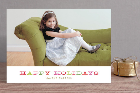 Holiday Brights Christmas Photo Cards