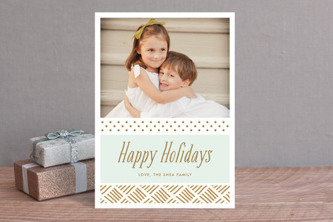 Gilded Holiday Christmas Photo Cards