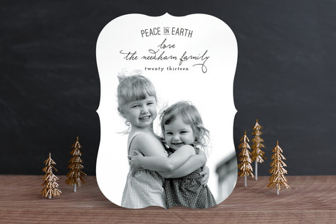 Elegant Peace Christmas Photo Cards