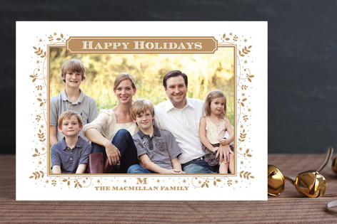 Glimmering Garland Christmas Photo Cards