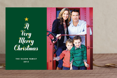 Very Merry Tree Christmas Photo Cards