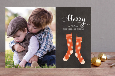 Holiday Stockings Christmas Photo Cards