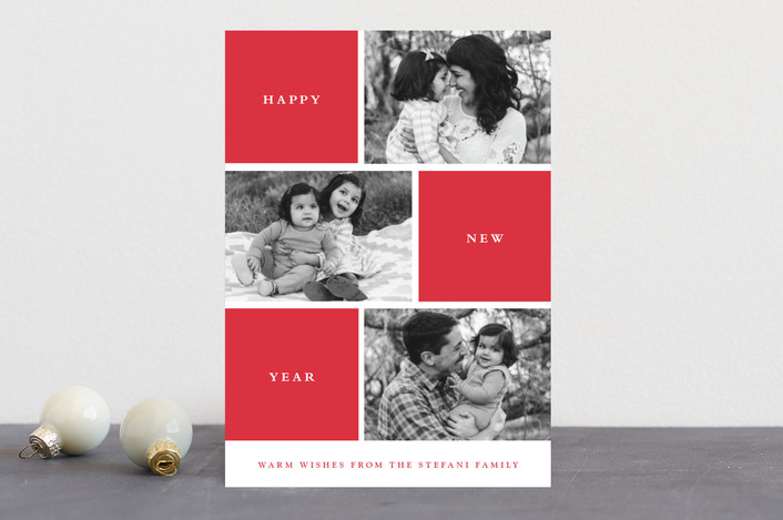 """Photo Session"" - Christmas Photo Cards in Cherry by Stacey Meacham."