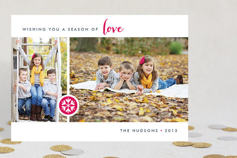 Season of Love Christmas Photo Cards
