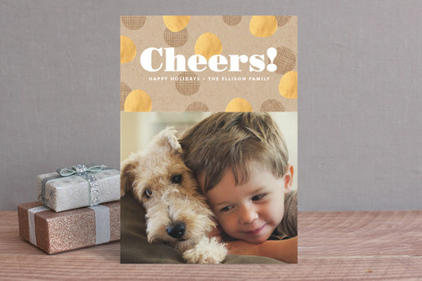 Krafted Cheers Christmas Photo Cards