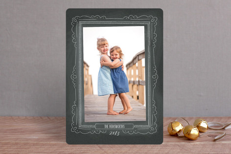 Chalkboard Frame Christmas Photo Cards