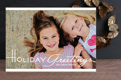 Cinematic Greetings Christmas Photo Cards