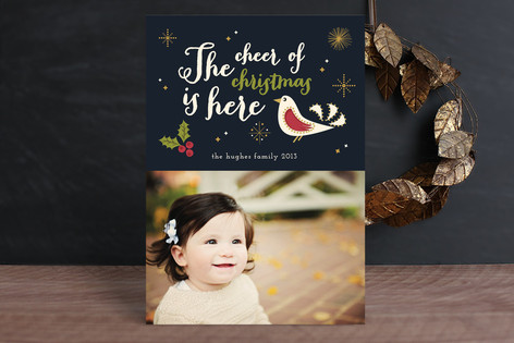 The Cheer of Christmas Christmas Photo Cards