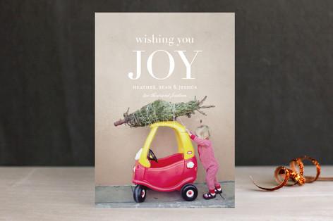 Wishing You Joy Christmas Photo Cards