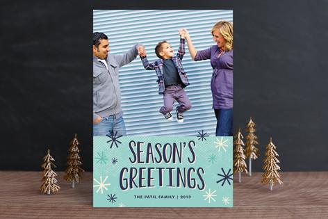 Snow Flurries Christmas Photo Cards
