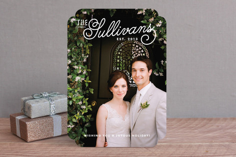 Refined Surname Christmas Photo Cards