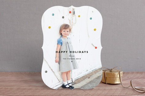 Confetti Cheer Christmas Photo Cards