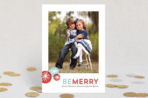 Pom Pom Fun Christmas Photo Cards