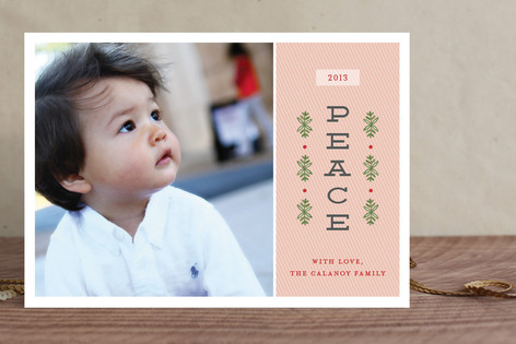 Modern Sprigs Christmas Photo Cards