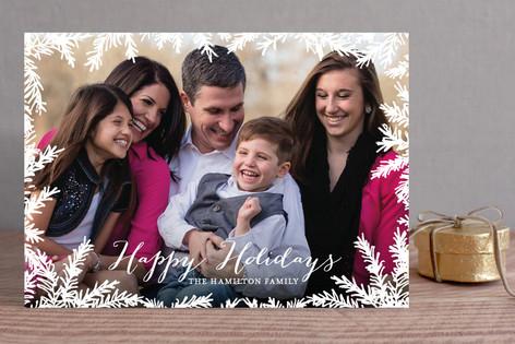 Pine Tree Christmas Photo Cards