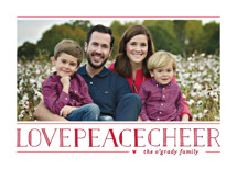 Love Peace Cheer Christmas Photo Cards By Lauren Chism