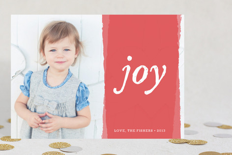 Painted Bright Joy Christmas Photo Cards