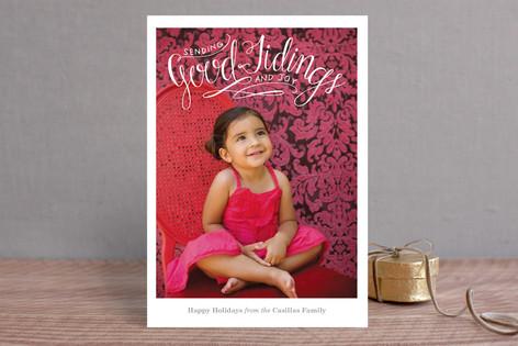 Good Tidings & Joy Christmas Photo Cards