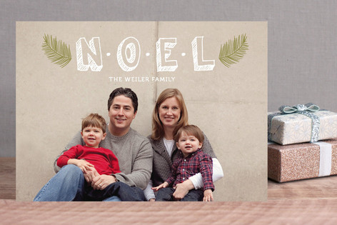 Noel Branches Christmas Photo Cards