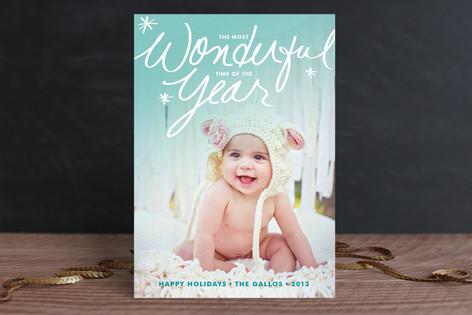 Wonderful Year Christmas Photo Cards