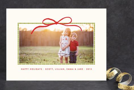 Beribbon Christmas Photo Cards