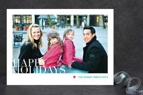 Modern Portrait Christmas Photo Cards