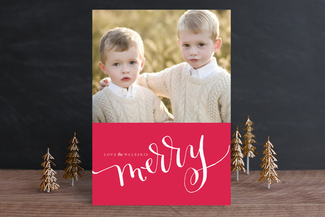 Cadmium Ink Christmas Photo Cards