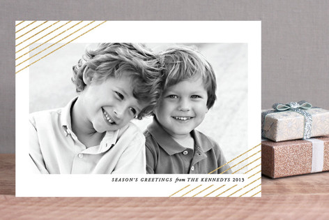 Modern Shimmer Christmas Photo Cards