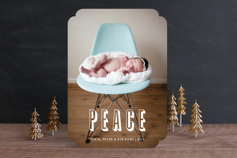 Modern Peace Christmas Photo Cards