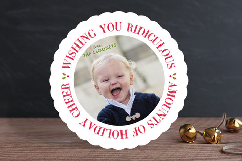 Ridiculous Cheer Christmas Photo Cards