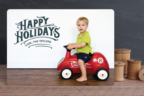 Typographic Greeting Christmas Photo Cards