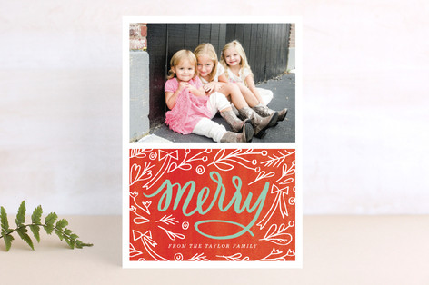 Merry Berry Mix Christmas Photo Cards