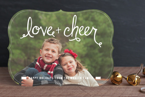 Lettered Love+Cheer Christmas Photo Cards