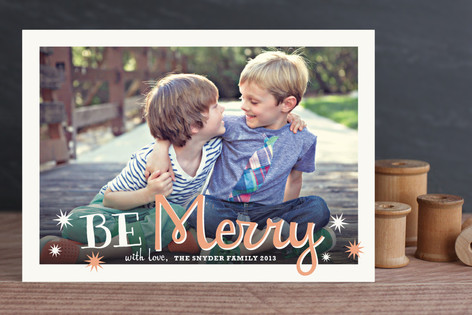 Whimsical Merry Christmas Photo Cards