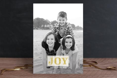 Joy Sparkles Christmas Photo Cards
